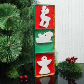 A set of Christmas pendants under coloring 3 PCs Magic with suspension