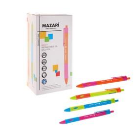 Ручка шариковая автоматическая для левшей MENTY, узел 0.7мм, чернила синие, микс