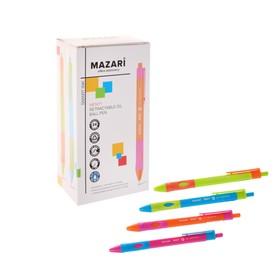 Ручка шариковая автоматическая для правшей MENTY, узел 0.7 мм, чернила синие, микс