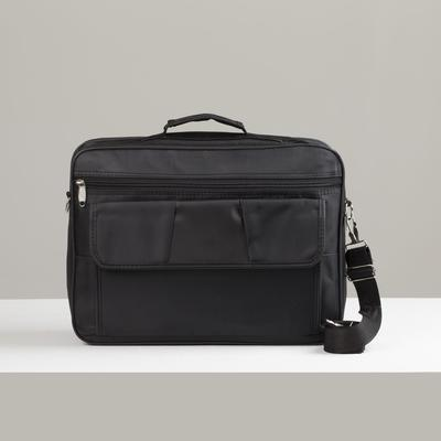 Bag business, Department 2 zippered, 2 external pockets, a long strap color black