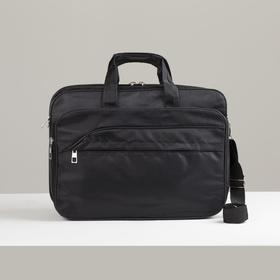 Bag business, Department 2 zips, 3 external pockets, a long strap color black