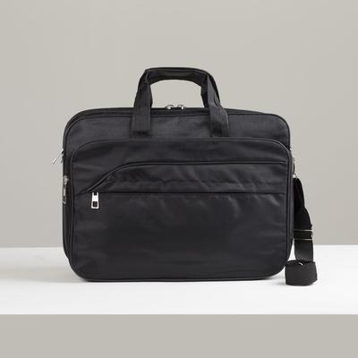 Bag business, Department 2 zips, 3 external pockets, a long strap color black