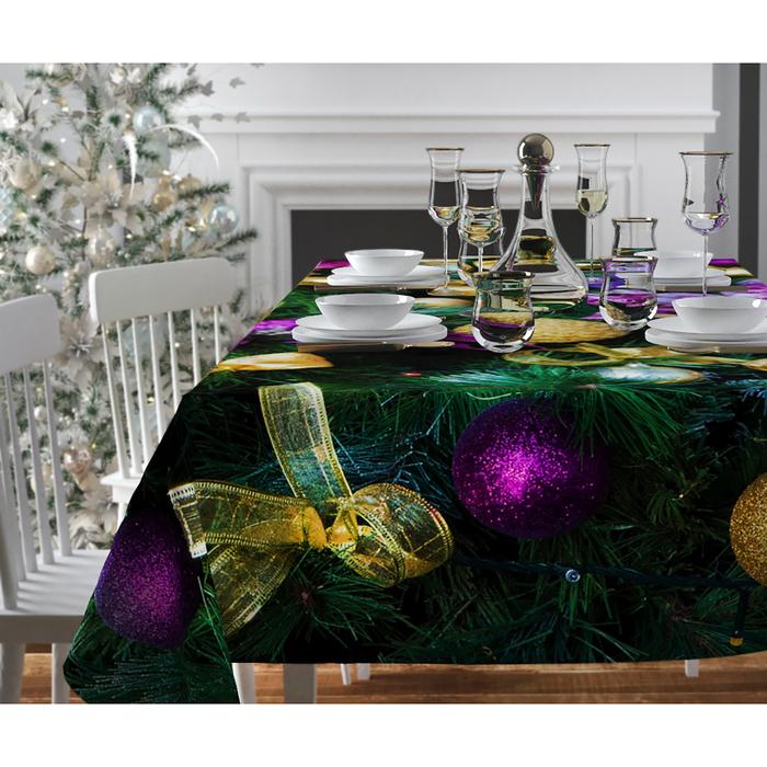 Скатерть с пропиткой «Яркие шары», 120х140 см, оксфорд, 240 г/м2, 100% полиэстер