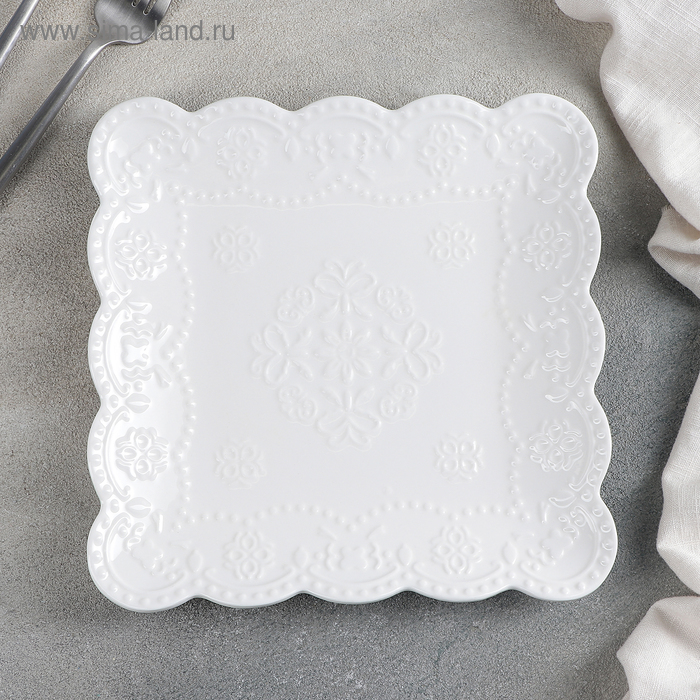 Plate square 20 cm Susan