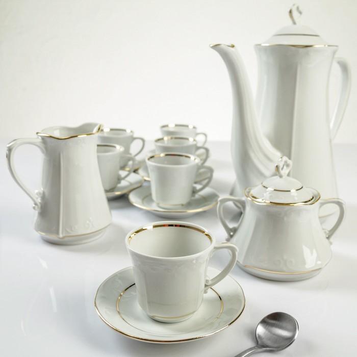 """Сервиз чайный на 6 персон """"Камелия"""", 15 предметов"""
