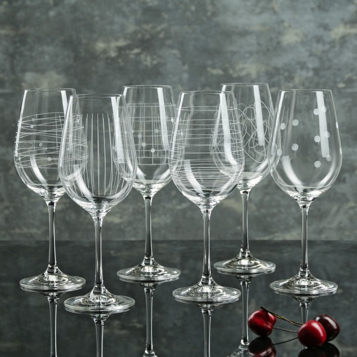 """Набор бокалов для вина 450 мл """"Виола. Elements"""", 6 шт"""