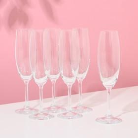 Набор бокалов для шампанского «Лара», 220 мл, 6 шт