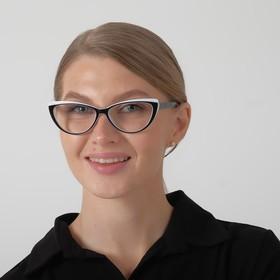 Glasses corrective 2038 M4, black-white, limb. duik., +3