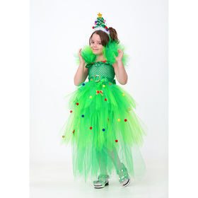 Карнавальный костюм «Ёлочка», сделай сам, корсет, ленты, брошки, аксессуары