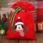"Мешок для подарков ""Новогодний пингвин"" на завязках"