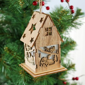 Декор с подсветкой «К нам летит Дед Мороз»