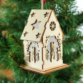 """Декор с подсветкой """"Волшебный снеговик"""""""