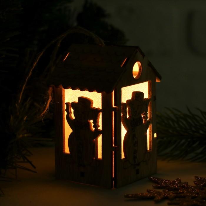 "Декор с подсветкой ""Снеговик"""