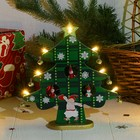 """New year's souvenir """"Tree with lights"""", green"""
