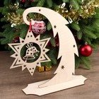 "Souvenir wood ""Tree arched with a star"" 30х27 cm (set of 3 parts) MIX"