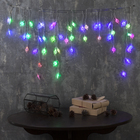 "Гирлянда ""Бахрома"", 1.8 х 0.5 м, ""Звёзды"" 4 см, LED-48-220V, мигает, нить прозрачная, свечение мульти (RG/RB)"