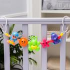 Растяжка на коляску/кроватку «Цыпленок, зайчик, обезьянка», 3 игрушки, цвет МИКС - фото 105523985