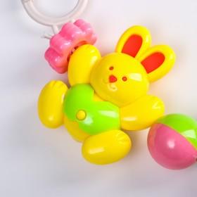 Растяжка на коляску/кроватку «Зайки», 4 игрушки