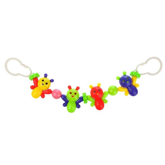 Растяжка на коляску/кроватку «Веселые бабочки», 4 игрушки