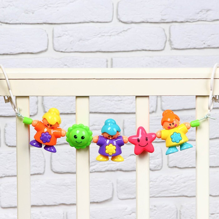 Растяжка на коляску/кроватку «Человечки», 3 игрушки