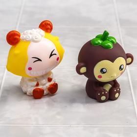 Набор резиновых игрушек для игры в ванной «Малышки», 2 шт., цвета МИКС