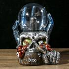 Плазменный шар «Череп в руке», полистоун, 20 × 15 × 14 см