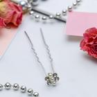 "Hair clip ""little Flower"" 1*6 cm three beads"