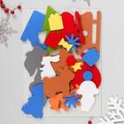 """Коврик-игралка """"Новогодние сказки"""" 210х297 мм  + 23 детали из фетра"""