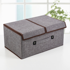Короб для хранения с двойной крышкой «Песок», 45×30×21 см, цвет серый - фото 308331712