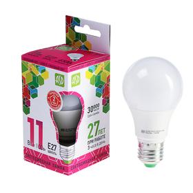 Лампа светодиодная ASD LED-A60-standard, Е27, 11 Вт, 230 В, 6500 К, 990 Лм
