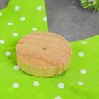 """Новогодняя мягкая игрушка, Набор для создания фигурки из ткани """"Елочка в горошек"""", цвет зеленый"""