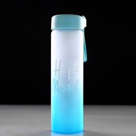 "Бутылка для воды ""Hello Master"", 450 мл, микс, 20х5.5х7 см"