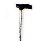 """Трость инвалидная телескопическая 10090/Fпл, 79-102 см, цвет """"Фиалки"""""""