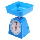 Весы кухонные LuazON LVKM-501, до 5 кг, шаг 40 г, чаша 1200 мл, пластик, синие