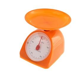 Весы кухонные LuazON LVKM-502, механические, до 5 кг, чаша 200 мл, оранжевые
