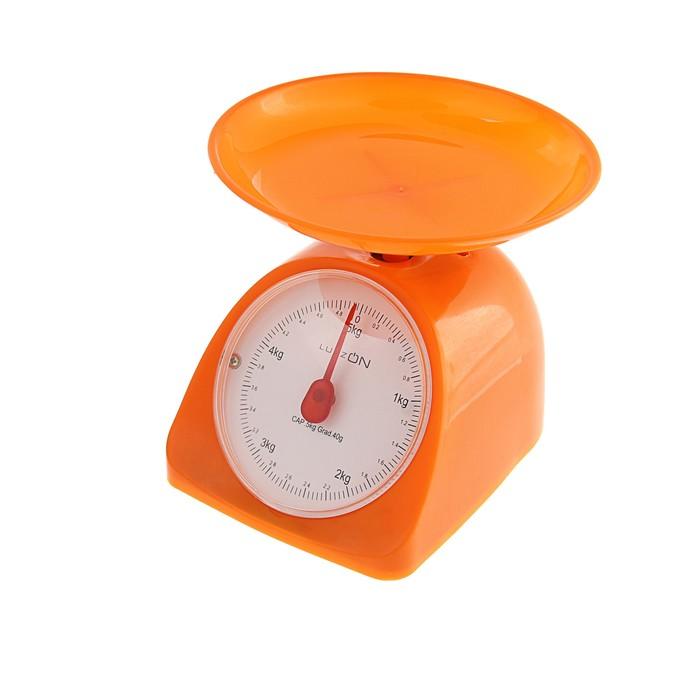 Весы кухонные LuazON LVKM-502, до 5 кг, шаг 40 г, чаша 200 мл, пластик, оранжевые