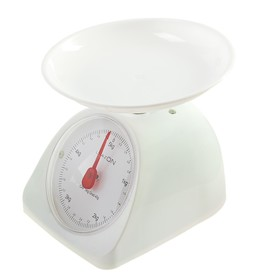 Весы кухонные LuazON LVKM-502, механические, до 5 кг, чаша 200 мл, белые