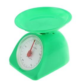 Весы кухонные LuazON LVKM-502, механические, до 5 кг, чаша 200 мл, зелёные