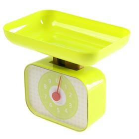 Весы кухонные LuazON LVKM-1001, механические, до 10 кг, чаша 1200 мл, зелёные