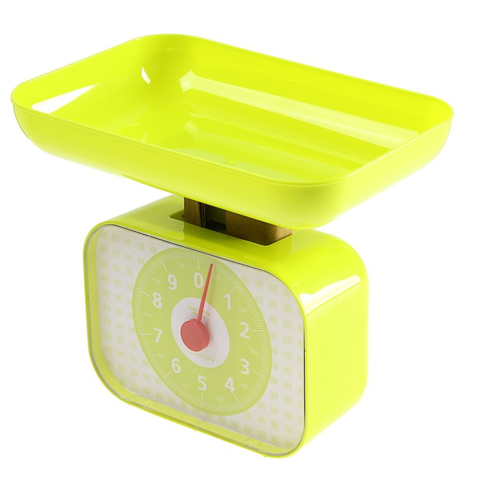 Весы кухонные LuazON LVKM-1001, до 10 кг, шаг 50 г, чаша 1200 мл, пластик, зеленые