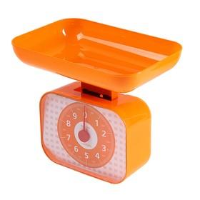 Весы кухонные LuazON LVKM-1001, механические, до 10 кг, чаша 1200 мл, оранжевые Ош