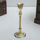 "Подсвечник латунь с перламутром ""Статуя"" на 1 свечу 7,5х7,5х18 см"