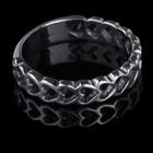 "Кольцо ""Сердечки"", размер 16, цвет чернёное серебро"