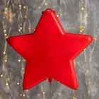 """Фигура """"Звезда красная ёлочная"""", 20Х20 см, пластик, 3 метра провод, КРАСНЫЙ"""