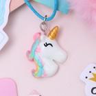 "Pendant baby ""Vibracula"" unicorn color"