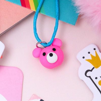 "Pendant baby ""Vibracula"" bear, color pink"