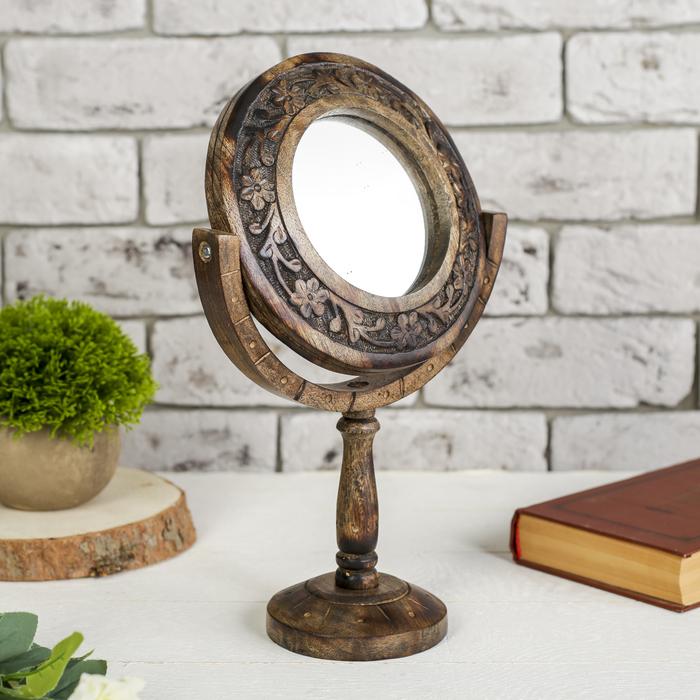 """Зеркало дерево """"Мечта"""" 17х8,5х27 см"""