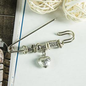 """Pin """"Love"""" 7.5 cm, color white silver"""