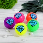 """Мяч световой """"Кристалл"""" 5*5 см, цвета МИКС"""