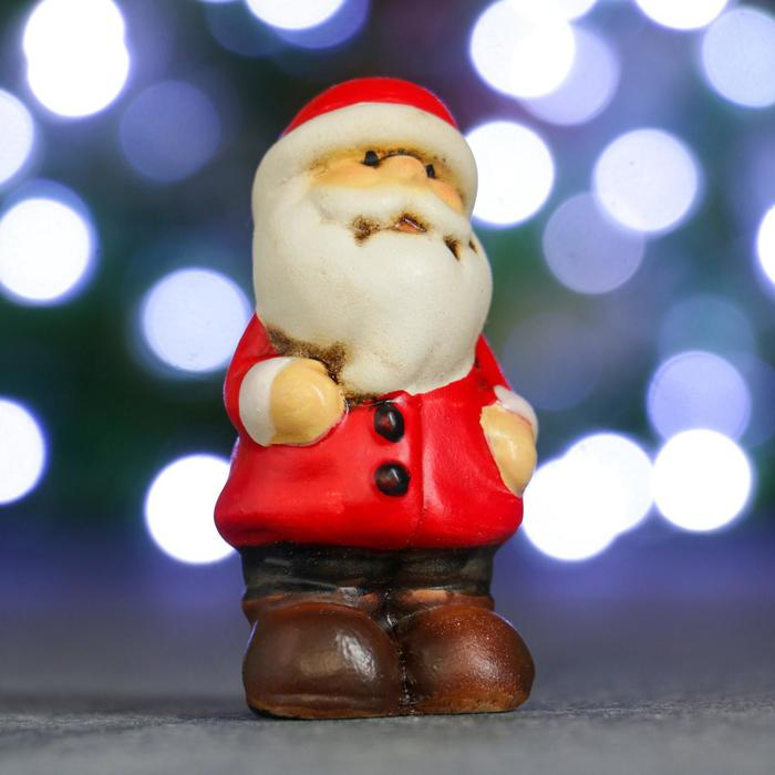 """Фигура """"Дед Мороз в сером колпаке"""" 3х4х7см"""
